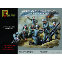 GERMAN MORTAR TEAM, 28PCS, 1:72