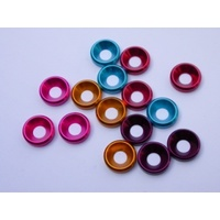 5mm Aluminium Washer Red (10)