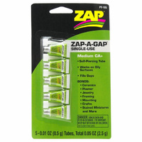 ADHESIVE,ZAP CA 0.01oz ONE TIME USE