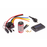 B/L CAR PKG 1/8 W/PROOF MOTOR & ESC