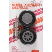 ROBART LOW BOUNCE MODEL AIRCRAFT SCALE WHEELS PK 2
