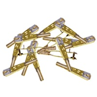 SULLIVAN S528 4-40 GOLD-N-CLEVISES WITH RETAINING CLIPS (12)