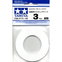 TAMIYA MASKING TAPE FOR CURVES 3MM T87178