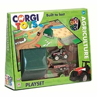 CORGI AGRICULTURE X 2 VEHICLES, PLAYMAT AND BUILDING
