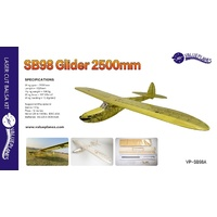 Value Planes SB98 2500mm Vintage Electric Glider Kit