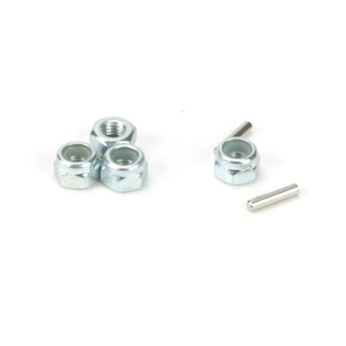 Losi Wheel Nuts & Drive Pins Mini-T